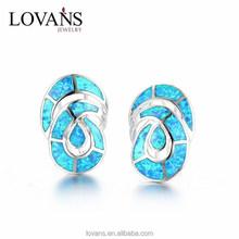Synthetic Opal Partywear Earrings Silver Jewelry Party SEI004W