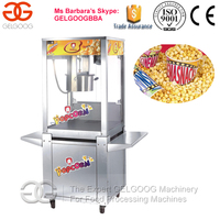 Stainless Steel Popcorn Machine With Wheel/Good Performance Popcorn Maker Machine/Super Popcorn Machine