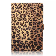 Leopard leather stand case for apple ipad mini4