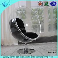 Luxury acrylic ball chair,acrylic chair furniture living room