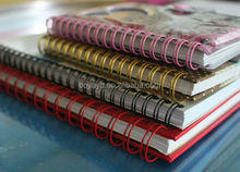 New promotion! Double spiral, Double loop wire book binding in different size&color
