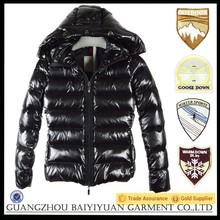 first name brand waterproof black men duck down jacket and goose down jacket