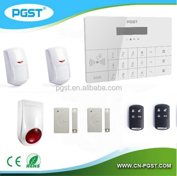 Беспроводной GSM главная охранной сигнализации пожарной сигнализации с APP GSM детектор дыма, 433 мГц ( PG-100 ) CE и RoHS