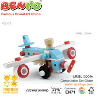 Globle Assembled and Changeable Construction set-Glider Wooden Toy confirm to EN71 ASTM