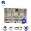 3 Glass Door LED Back Bar fridge/Stainless Steel Beer Bottle cooler