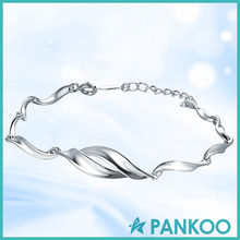 China professional suppliers feminine charm sterling silver bracelet
