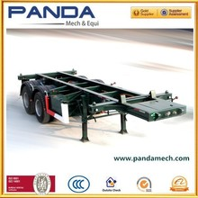 Panda manufacture cheap port use dual skeleton truck and trailer