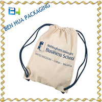 Promotion Wholesale Cotton Fabric Drawstring Bag
