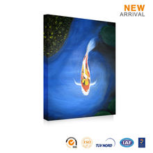 Home Decor Oil Canvas Modern Abstract Fish Painting