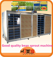 Automatic water spraying and temperature control labor saving bean sprout growing machine