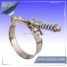 """Heavy Duty Spring Loaded T Bolt Clamp 3/4"""" (19mm) Band"""
