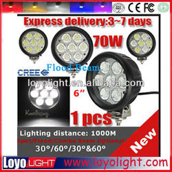 70w led work bench light 6 inch round spot light for led off road driving