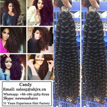 Real 100% Unprocessed Vigin brazilian deep curl hair weaving