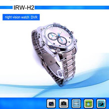 12.0MP CMOS Analog Camera Type and Hidden Camera Style waterproof mini dvr watch manual 8GB IR night vision 1080P