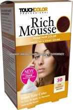 rica espuma para el cabello tinte de espuma en aerosol color de pelo