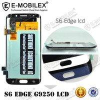 E-MobileX LCD chinese phones spares Blue Topaz Super AMOLED 5.1inch lcd mobile phone for Samsung Galaxy S6 EDGE G925K