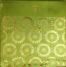 2015 fashion wholesale swiss sego headties/african gele headtie lemon green and gold