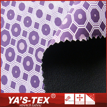 High quality smooth touch 2 layer bonded woven printed polar fleece softshell fabric for jacket
