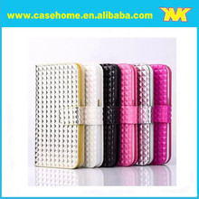 Bling Diamond Pattern Cover for iphone 6 Leather Case TPU Flip Wallet Case for iphone 6