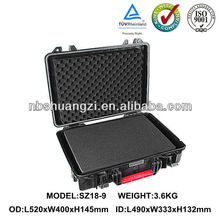 High impact ABS plastic tool carrying case with foam