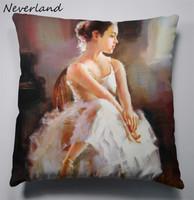 Fashion Hot Decorative Cushions New Arrival Painting girl Style Throw Pillows Car Home Decor Cushion Decor 45x45CM BZ27