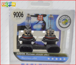 1 pair X-treme Vision 9006 Brighter bulb Xenon headlight Halogen Light 12V 55W 5000k effect with color box #OOO