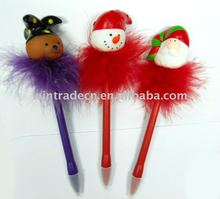 Promotional Flashing Feather Christmas Pen