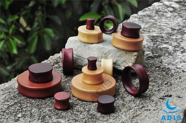Bulk Costume Jewelry Wooden Earring Plugs Make By Rose Wood (1).jpg