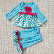 children casual autumn clothing set top and pants made in china