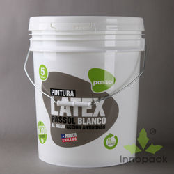 Printed food grade 5 gallon plastic buckets with lid