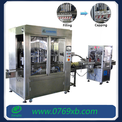 Automatic small bottle filling and capping machine for shampoo