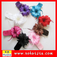 Hot Sale Pretty Multicolor Felt Bow Tie Headband Thin Hair Band for Baby Girls