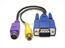 VGA to TV CONVERTER S-VIDEO+RCA OUT CABLE ADAPTER