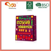 2014 Happy Birthday Tote Paper Friendly Eco Bag