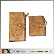 High security high quality fashion leather wallet womens patent manufacture/Man leather wallet with Custom Logo