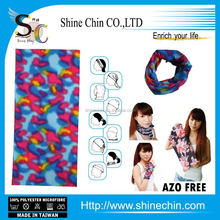 Wholesale sublimation printed color diffusion magic assorted bandana