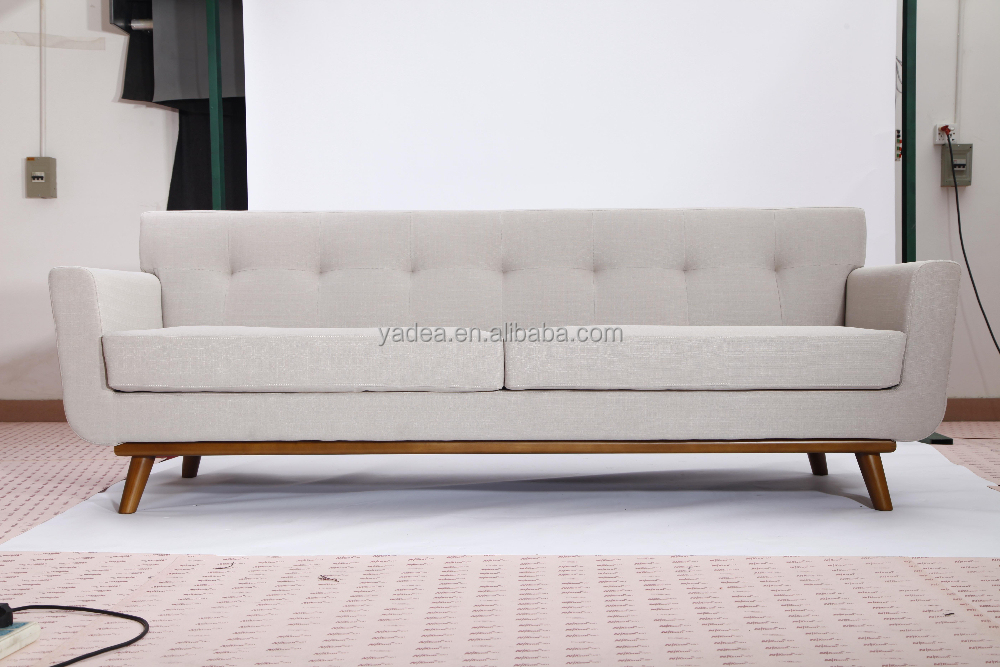 China Manufacturer Lounge Furniture Solid Wood Legs Fabric