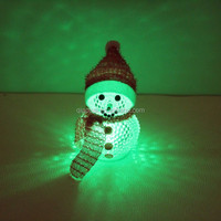 cheap color changing portable night light, mini night light snowman