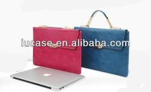 "Ladies Handbag for MacBook Air/Pro, Ladies pu case for laptop, PU case for macbook air 11"" 13"""