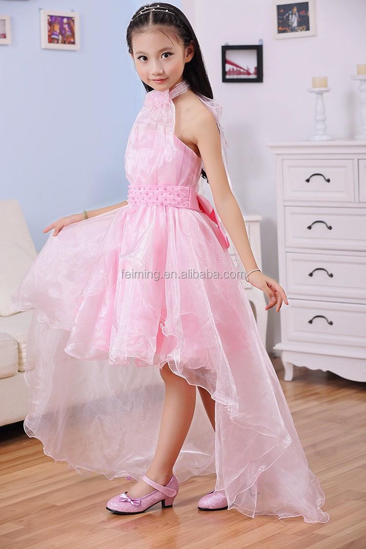 New Little Girl Fashion Kids Party Wear Off Shoulder Hang Designer ...