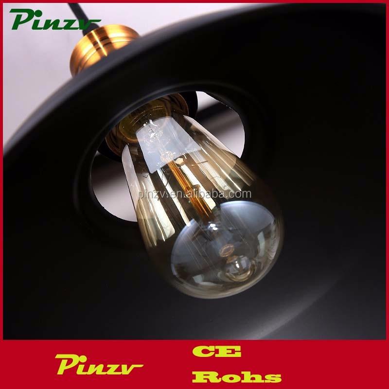 Pzv pendant82 industriële retro vintage zwart hanglamp keuken bar ...