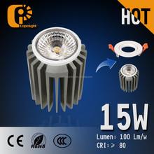 wholesale high brightness 3000-6000K cob led recessed ceiling spotlight 5W 10W 15W