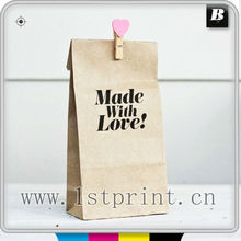 flat bottom kraft paper bag printing service with handle