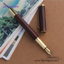 Custom logo factory price wooden fountain pen for promotion