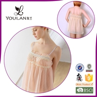 On Sale Comfortable Young Lady Super White Girl Sexy Nightwear Lingeries