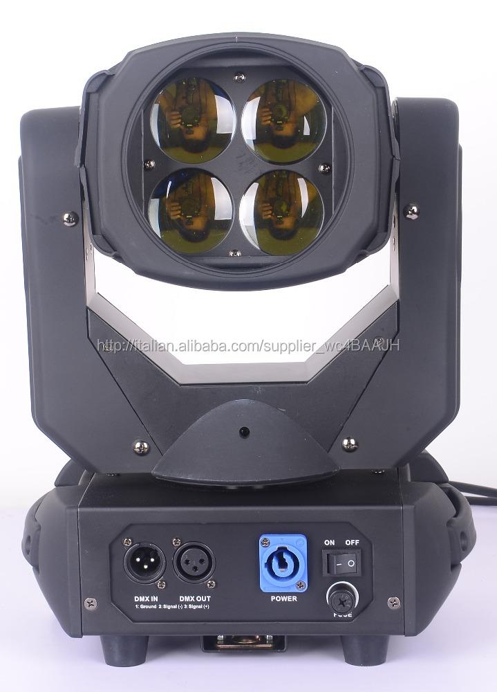 4x25 W RGB Colorato 130 W LED Super Fascio Capo Commovente luce per Discoteca discoteca DJ Bar Luce Della Fase del Fascio