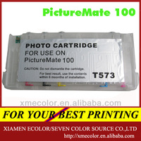 Suitable with PM100 refillable cartridge with arc chip for epson PictureMate 100(T573)