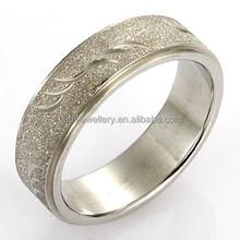 Barato jateamento anel moda casais anel de dedo
