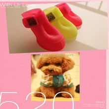 Waterproof fashion silicone rubber boots / pet product dogs