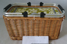 picnic basket with wire handle